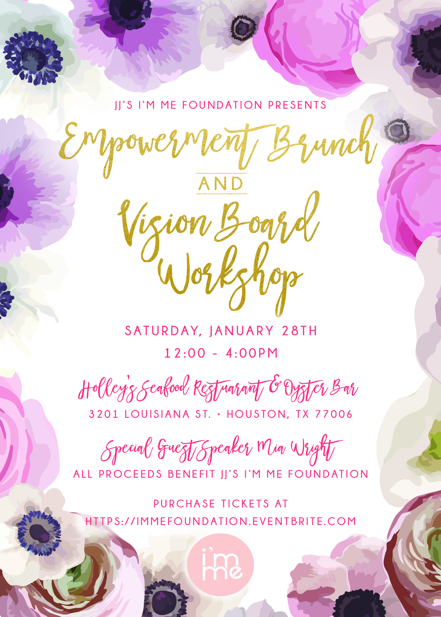 January 28th  - Empowerment Brunch & Vision Board Workshop