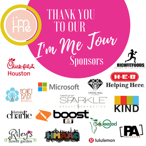 THANK YOU TO OUR SPONSORS - I'M ME TOUR/COLLEGE EDITION